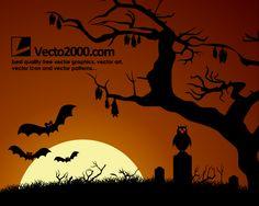 Halloween Background: Haunted Dark Nights