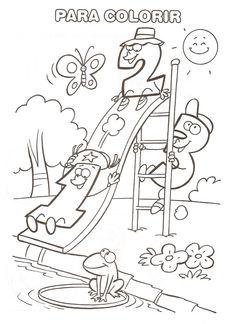 ATIVIDADES PARA EDUCAÇÃO INFANTIL: Diversas atividades para educação infantil Kindergarten Math Worksheets, In Kindergarten, Maths, Classroom Labels, Crafts For Kids, Graphic Design, Teaching, Activities, Education