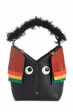 472be8ba4216 Anya Hindmarch Build a Bag Mini Creature Leather Shoulder Bag with Genuine  Shearling Anya Hindmarch Fashion