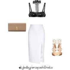 Date by fiercefashi0nista on Polyvore featuring polyvore, fashion, style, Cushnie Et Ochs, Alexander McQueen, Steve Madden and Yves Saint Laurent