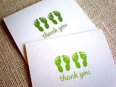 Items similar to Twin Baby Footprint Thank You Cards with Envelopes - Set of 10 Green Footprints Twin Thank You Notes - Lime or Olive Green - Gender Neutral on Etsy Baby Thank You Cards, Thank You Notes, Baby Footprints, Twin Babies, Keep It Simple, New Baby Gifts, Gender Neutral, Hand Drawn, New Baby Products