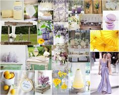 "I am in love- Wedding Inspiration Board ""Lavender and Lemon"" Sounds Yummy Almost"