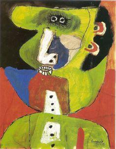How ugly I camee off - Lucebert   seudónimo de Jacobus Swaanswijk. Pintor y poeta holandés perteneciente al grupo COBRA