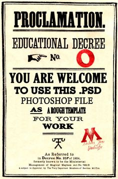 HP Educational Decree Template by kyliesmiley16. Free PSD file to make your own...guess who's going to be playing with photoshop tonight??