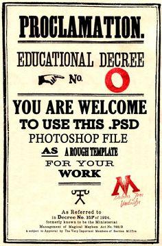 HP Educational Decree Template by kyliesmiley16
