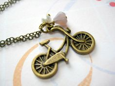 Bicycle Necklace by iceblues on Etsy, $18.00
