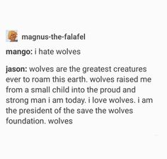 This is the best<< i like wolves but i like mango better :P