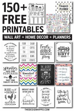 150+ Free Wall Art Home Decor Printables And Planners