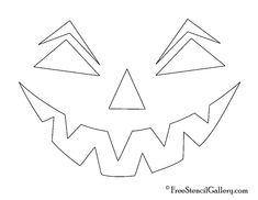 Free Printable easy funny jack o lantern face stencils patterns Funny Jack O Lanterns, Jack O Lantern Faces, Halloween Pumpkins, Halloween Face, Funny Halloween, Pumpkin Face Templates, Funny Faces Images, Jack O'lantern, Face Stencils