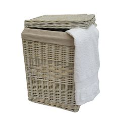 Organise your laundry with ease and style with this beautiful wicker basket, available in two sizes to suit any space.