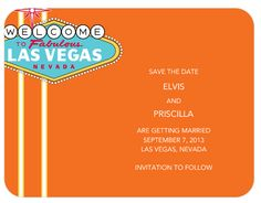 Little Vegas Wedding | Fun with Las Vegas Save the Date Cards | http://www.littlevegaswedding.com