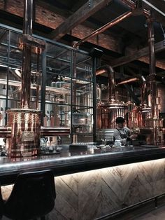 -You can find Craft beer and more on our website. Brewery Interior, Pub Interior, Bar Interior Design, Brewery Design, Pub Design, Restaurant Design, Seoul Korea, La Trattoria, Beer Factory