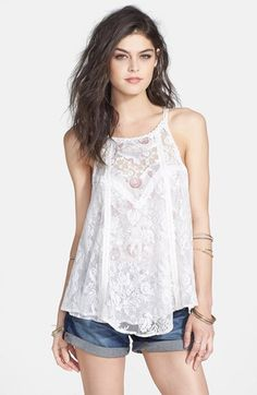 Free People 'Miss Mackenzie' Lace A-Line Tank
