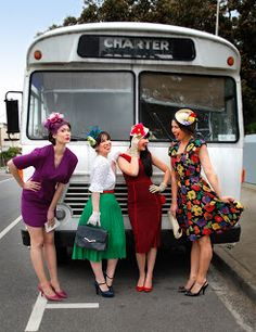Recycled Fashion: Spring Racing Carnival Vintage Style