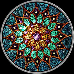stained glass mandalas...awesome! OR MOSIC SUNCATCHERS? TRANSPARENT MOSAICS?