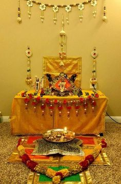 Discover beautiful DIY decoration ideas for Krishna Janmashtami. Learn how to decorate lord Krishna on Janmashtami and get Krishna jhula decoration ideas. Diwali Decorations, Festival Decorations, Flower Decorations, Ganapati Decoration, Decoration For Ganpati, Mandir Decoration, Ganesh Chaturthi Decoration, Diwali Pooja, Janmashtami Decoration