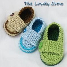 Baby boy shoes Crochet Pattern Loafers  for Little PRINCE Loafers  -  4 sizes - Newborn to 12 months.. $5.95, via Etsy.