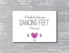 Custom Modern Dancing Feet Sign 5x7 DIY Wedding by CreativePapier, $7.00