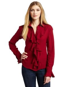 WHAT GOES AROUND COMES AROUND Women's Deneure Long Sleeve Top, Biking Red, X-Small What Goes Around Comes Around. $107.55. 100% Silk; Made in India; Fitted throughout with ruffle at cuffs; Dry Clean Only; Silk ruffles decorate the button-down front opening. Save 55% Off!