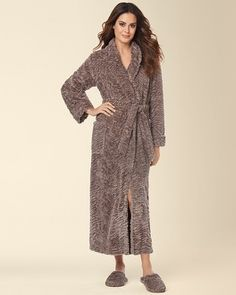 6039f3f3c2 Soma Intimates Embraceable Luxe Long Robe Mochaccino  somaintimates My Soma  Wish List Sweeps Sleepwear Women