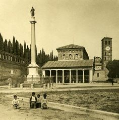Italy Roma San Lorenzo Church old NPG Stereo Photo 1900
