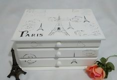 Cômoda Porta Jóias Paris Off white c3