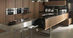 Muebles de cocina. G-680 acabado Nogal Tenue. GAMADECOR.