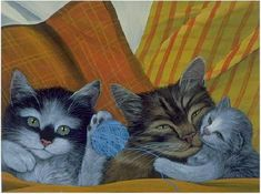 Cat portraits. Therese Coustry