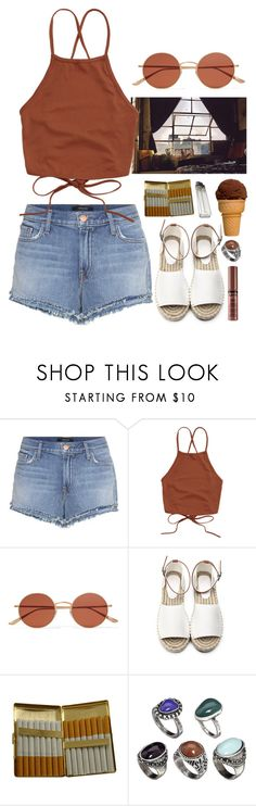 """""""Chocolate"""" by brigi-bodoki ❤ liked on Polyvore featuring J Brand, Oliver Peoples, KING and ASOS"""