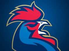 Coq by Aurélien Mahaut - Dribbble Chicken Logo, Sports Decals, Sports Team Logos, Bird Logos, Eagle Logo, Best Logo Design, Cartoon Icons, Mexican Art, Logo Concept