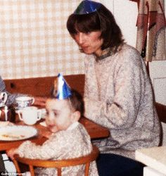 Kate dons a novelty hat at Nicola's first birthday party - held at the suggestion of Carole Middleton - in January 1983. Nearly three decades later and she would go on to marry the future King of England