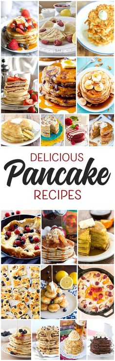 Over 20 delicious pancake recipes for every occasion!  Perfect for 4th of July breakfast, Mother's Day breakfast in bed, Birthdays to make the star feel special first thing in the morning, or any day!