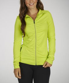 Take a look at this Tender Shoots Omega Shirred Jacket on zulily today!