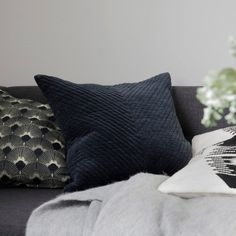 Add our plush Dublin Blue Velvet Cushion from House Doctor to your cushion arrangement & be sure its one of your favorite additions. A large soft textured design, perfect for nights snuggled on the sofa. House Doctor, Herringbone Stitch, Herringbone Pattern, Stripe Pattern, Cotton Velvet, Blue Velvet, Cushion Arrangement, Cosy Aesthetic, Charming House