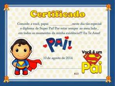 Pode o Lar ser Como o Céu: Kit Digital Festa Super Pai Captain America Party, Fathers Day Crafts, Special Day, Diy And Crafts, Scrapbook, Education, Blog, Happy, Fictional Characters