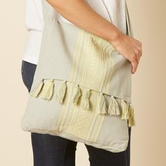 Nomads Tassel Satchel Bag - Dove Grey - Nomads