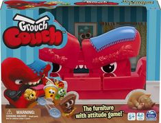 Grouch Couch comes with a rather grumpy sofa, 16 coins, 15 lost goodies – which we deduced to be sweets, popcorn and drinks!, 1 dice and instructions. The reason for the age recommendation is because the game includes a lot of small parts which could be a choking hazard for very young children. You also need 3 AAA batteries for the couch. It is available from Amazon priced £ Family Game Night, Family Games, Fun Games, Games For Kids, Toys Uk, Typing Games, Couch Furniture, Christmas Gift Guide, Christmas Ideas