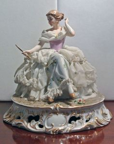 Capodimonte Victorian Lady Figurine Italy ... | FIGURINES - Old & New