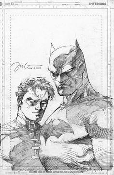 Jim Lee - Batman Robin pencils