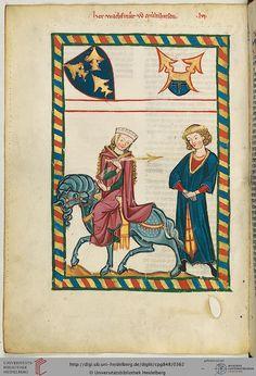 Universitätsbibliothek Heidelberg, Cod. Pal. germ. 848: Universitätsbibliothek Heidelberg, Cod. Pal. germ. 848 Große Heidelberger Liederhandschrift (Codex Manesse) (Zürich, ca. 1300 bis ca. 1340)