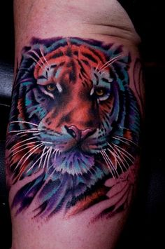 b124ee5dc 41 best Colorful Tiger Tattoo images in 2017 | Tiger Tattoo, Giger ...