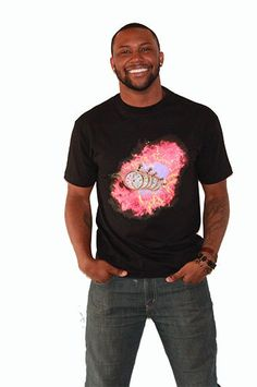 """HaileyMason, LLC Store - """"In Time"""" Tee in Black - HaileyMason , $24.00 (http://www.haileymason.com/mens/in-time-tee-in-black-haileymason/) #clock tee #men's tops Use coupon code """"PinIt"""" to receive 25% off"""