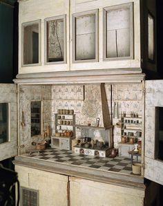 A dollhouse kitchen from around 1700,  Nordiska Museet, Stockholm