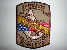 OPERATION DESERT STORM MISSION ACCOMPLISHED PATCH