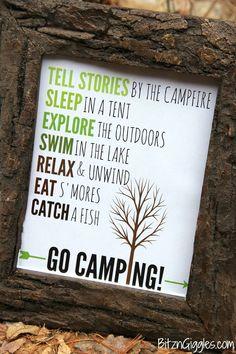 Go Camping Free Prin