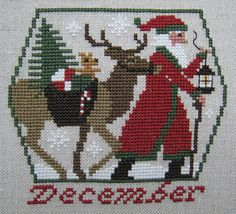 prairie schooler charts | Stitching Dreams: Week Forty-Nine: Prairie Schooler December Santa