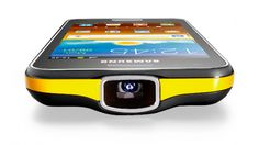 Samsung Galaxy Beam phone with a built-in projector to project pix, video, and other media onto walls or any flat surface.