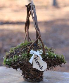 Flower Girl Basket ... Keywords: #rusticweddings #jevelweddingplanning Follow Us: www.jevelweddingplanning.com  www.facebook.com/jevelweddingplanning