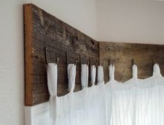 Farmhouse Window Treatments with Reclaimed Wood 17 DIY Farmhouse Decor Projects That Will Save You Time & MoneyDIY Rustic Farmhouse Decor Projects for Your Country Chic Cottage. Farmhouse Windows, Country Farmhouse Decor, Modern Farmhouse, Rustic Windows, Vintage Farmhouse Decor, Wood Valances For Windows, Seaside Cottage Decor, Reclaimed Windows, Window Cornices