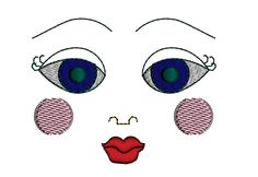 Vintage Doll face Machine Embroidery Design by FloraFinadolls